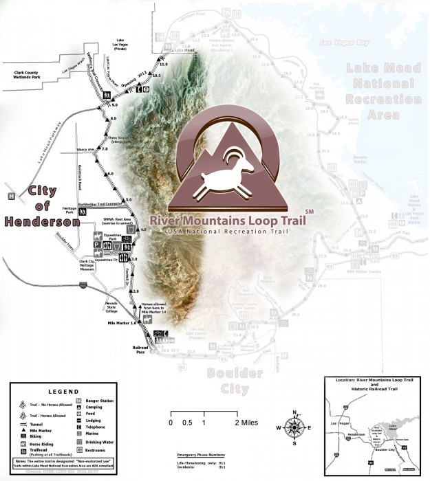 Henderson, NV Trailhead Map